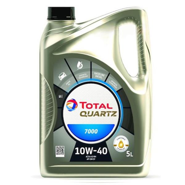 моторно масло TOTAL QUARTZ 7000 10W40 БЕНЗИН 5л