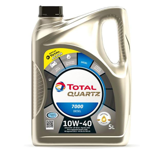 моторно масло TOTAL QUARTZ 7000 DIESEL 10W40 5л