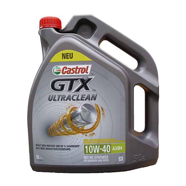 моторно масло CASTROL GTX ULTRACLEAN 10W40 A3/B4 5L