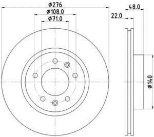 Спирачни дискове SAMKO - C1241V