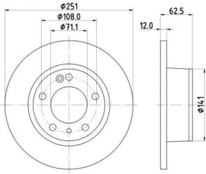 Спирачни дискове SAMKO - C1311P