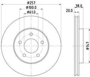 Спирачни дискове SAMKO - C3000V