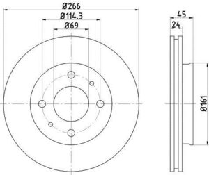 Спирачни дискове SAMKO - D1091V
