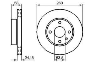 Спирачни дискове SAMKO - F1201V