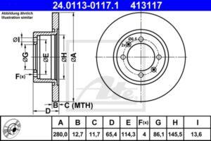 Спирачни дискове SAMKO - S1041P