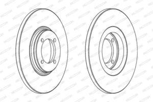Спирачни дискове SAMK - V1081P