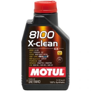 Моторно масло MOTUL 8100 X-CLEAN 5W40 1L