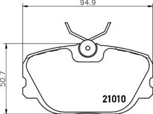 Спирачни накладки SAMKO - 5SP303