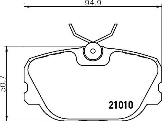 Спирачни накладки SAMKO за VOLVO 480 - 5SP303