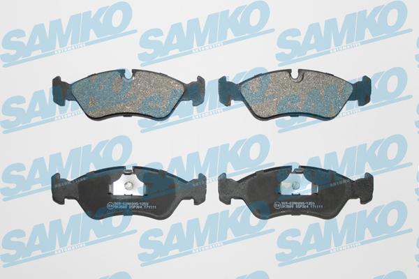 Спирачни накладки SAMKO за OPEL Astra - 5SP304