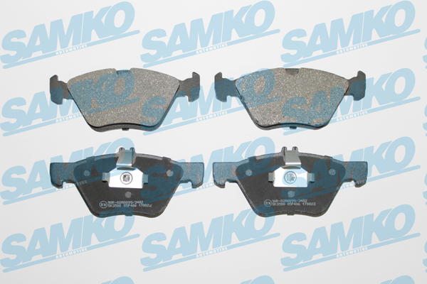 Спирачни накладки SAMKO- 5SP406