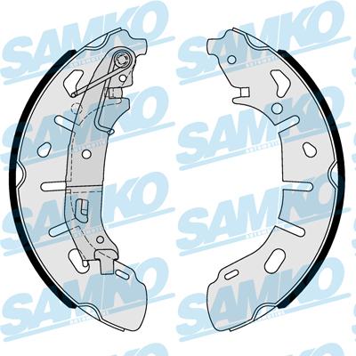 Спирачни накладки SAMKO - 81101