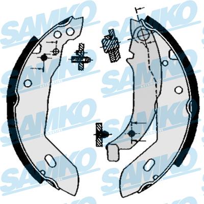 Спирачни накладки SAMKO 84670