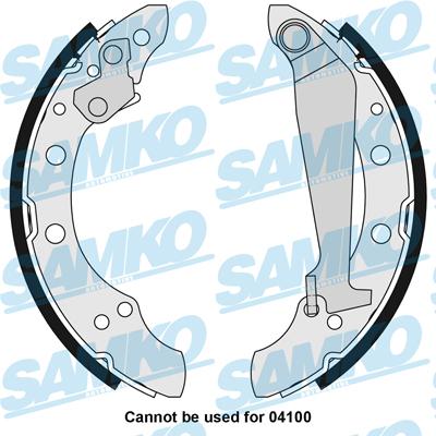 Спирачни накладки SAMKO - 85730