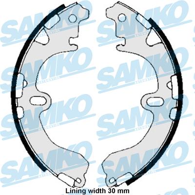 Спирачни накладки SAMK - 85810