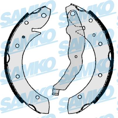 Спирачни накладки SAMKO - 86860