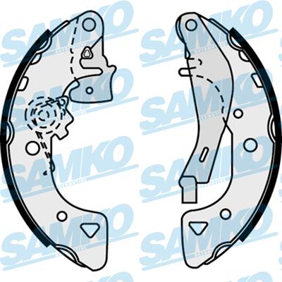 Спирачни накладки SAMKO - 87540