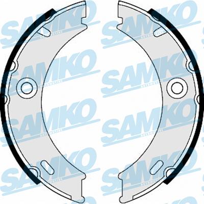 Спирачни накладки SAMKO - 87970