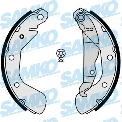 Спирачни накладки SAMKO - 88120