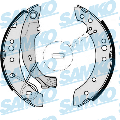 Спирачни накладки SAMKO - 88150