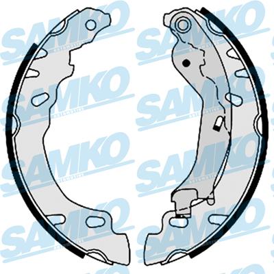 Спирачни накладки SAMKO - 88780
