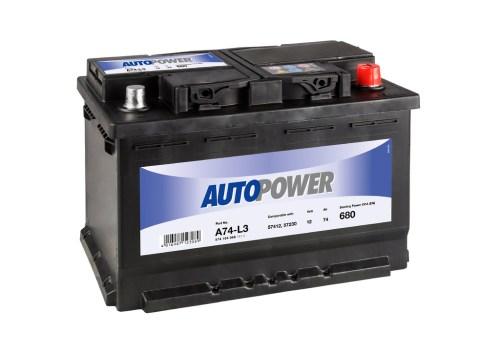 Акумулатор за кола AUTOPOWER 74AH 680A R+