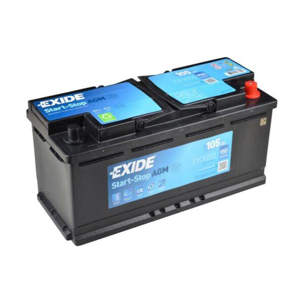 Акумулатор за кола EXIDE AGM 105Ah - EK1050