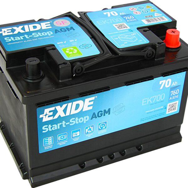 Акумулатор за кола EXIDE AGM 60Ah - EK600