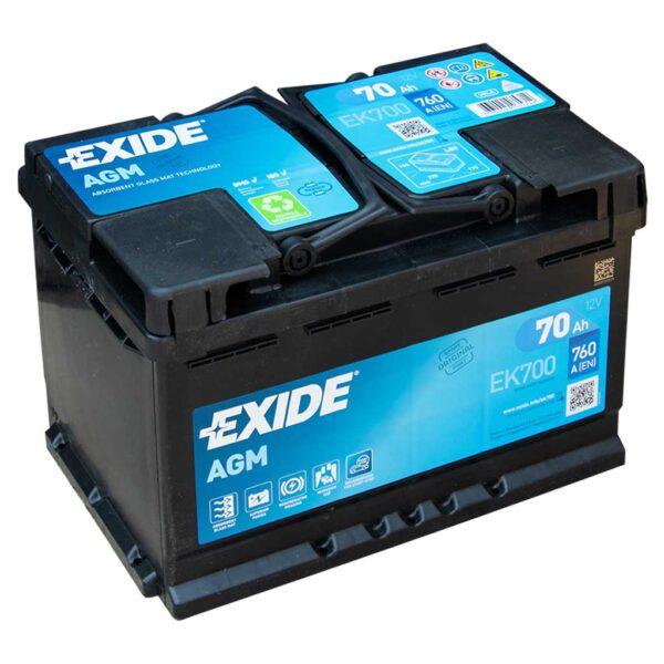 Акумулатор за кола EXIDE AGM 70Ah - EK700