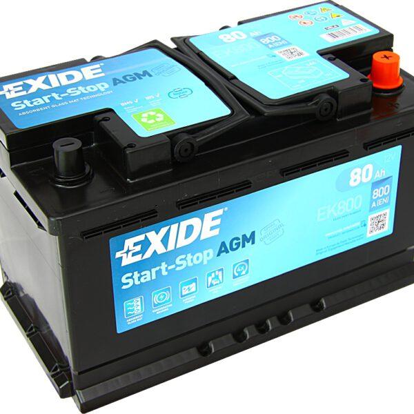 Акумулатор за кола EXIDE AGM 80Ah - EK800