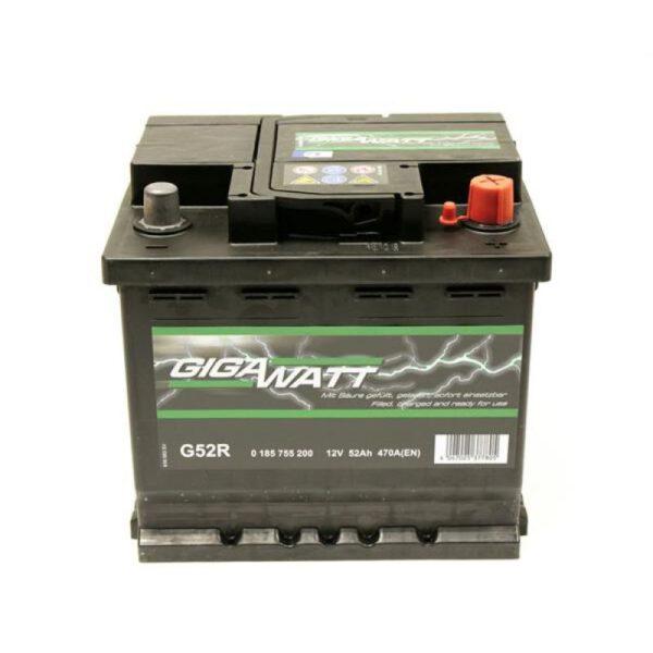 Акумулатор за кола GIGAWATT G52R, 52Ah 470A