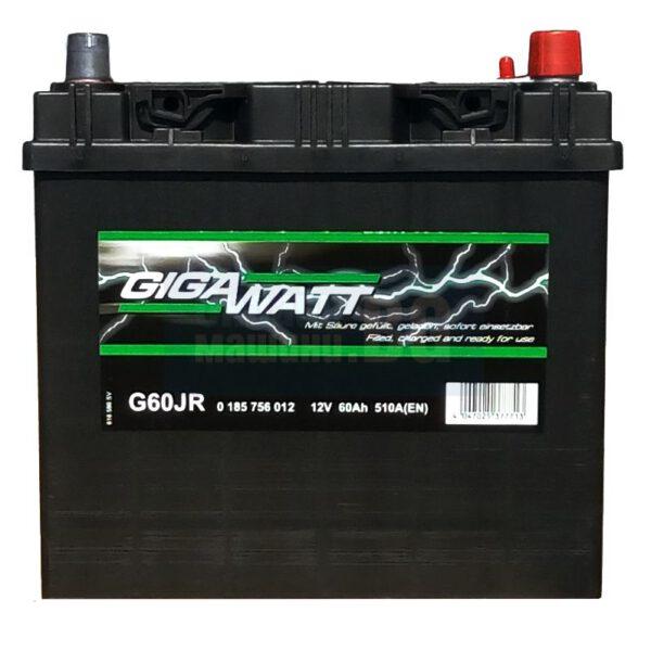 Акумулатор за кола GIGAWATT 60Ah JIS R+
