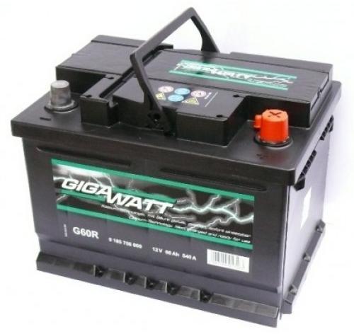 Акумулатор за кола GIGAWATT G60R, 60Ah 540A