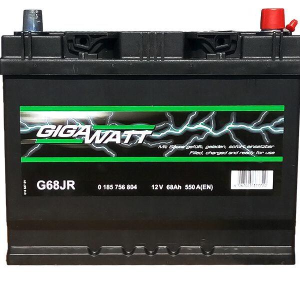 Акумулатор за кола GIGAWATT 68Ah JIS R+