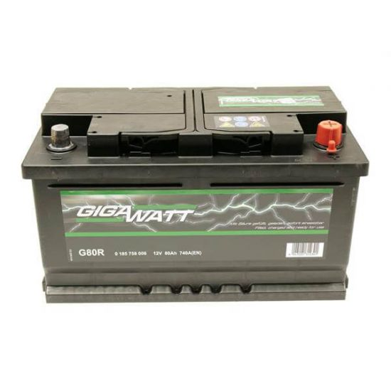 Акумулатор за кола GIGAWATT G80R, 80Ah 740A