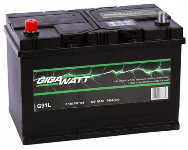 Акумулатор за кола GIGAWATT 91Ah JIS L+