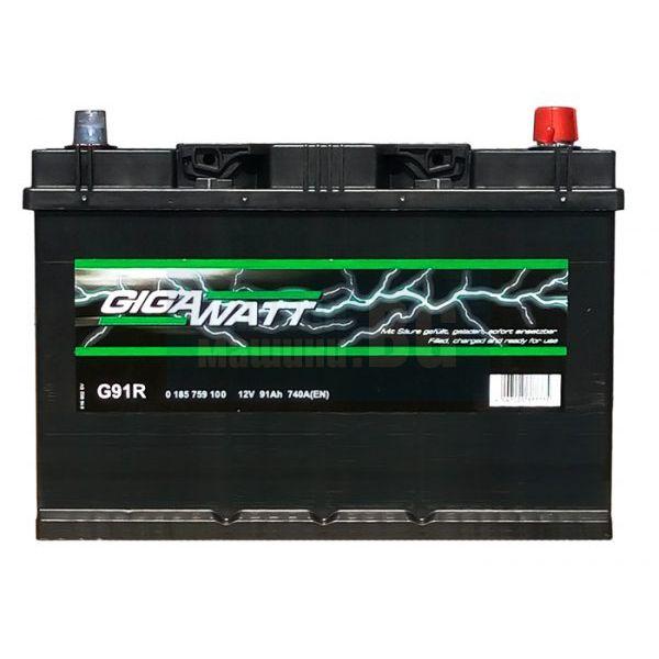 Акумулатор за кола GIGAWATT 91Ah JIS R+