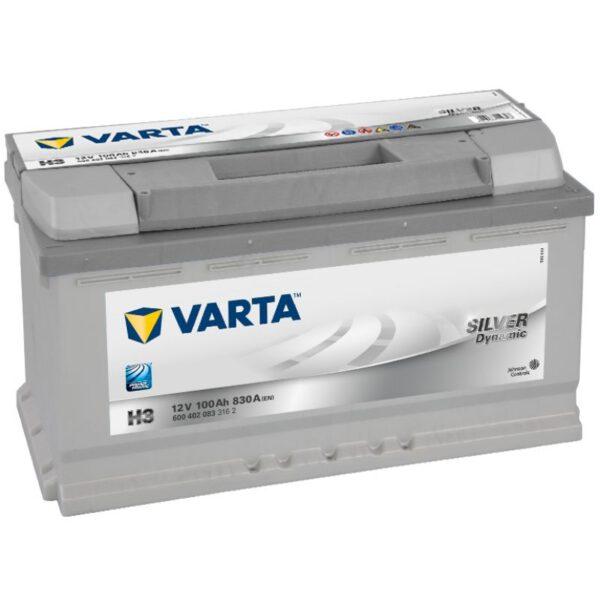 Акумулатор за кола VARTA 100AH SILVER DYNAMIC H3