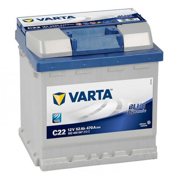 Акумулатор за кола VARTA 52Ah BLUE Dynamic R+ - C22