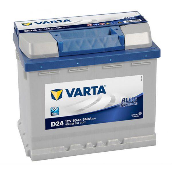 Акумулатор за кола VARTA 60AH BLUE DYNAMIC - D24