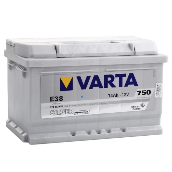 Акумулатор за кола VARTA 74AH SILVER DYNAMIC E38