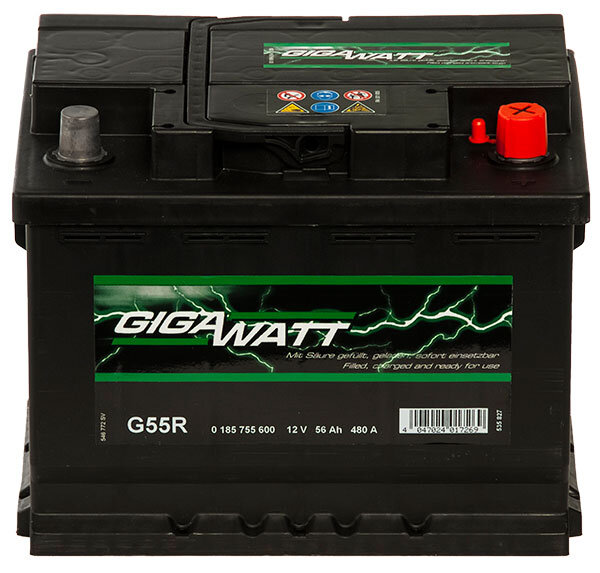 Aкумулатор за кола GIGAWATT G55R, 56AH 480A
